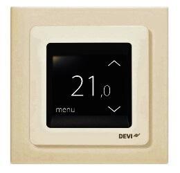140F1078 DEVIreg Touch Ivory Терморегулятор терморегулятор devi devireg smart интеллектуальный с wi fi белый 16 а