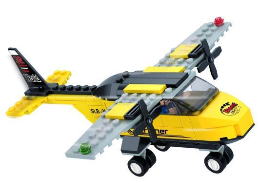 Конструктор SLUBAN Самолет 110 элементов M38-B0360 конструктор sluban космический трансформер военный самолет 331 элемент m38 b0257