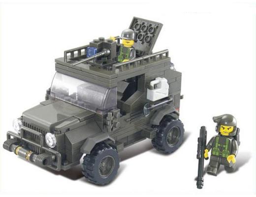 Конструктор SLUBAN Военный автомобиль 221 элемент M38-B0299 конструктор bauer автомобиль 282