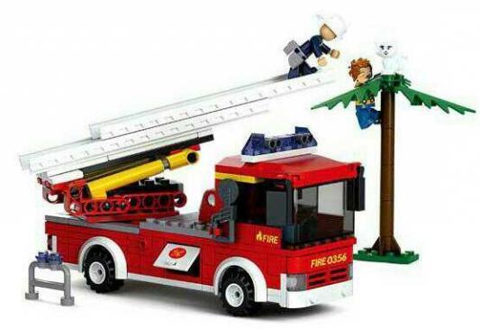 цена Конструктор SLUBAN Пожарная лестница 265 элементов M38-B0625