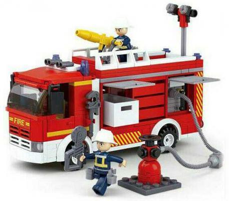 Конструктор SLUBAN Пожарная машина 345 элементов M38-B0626 конструктор sluban большой красный грузовик 345 элементов m38 b0338