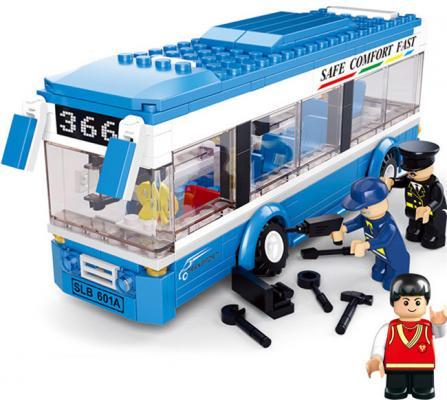 Купить Конструктор SLUBAN Одноэтажный автобус 235 элементов M38-B0330, Пластмассовые конструкторы