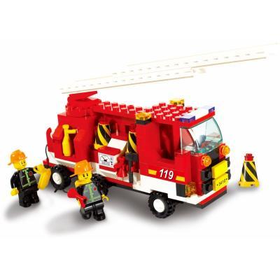 Конструктор SLUBAN Пожарная команда 175 элементов M38-B3000