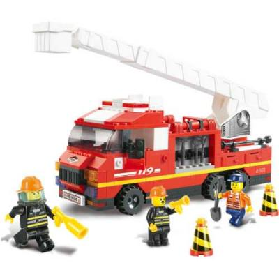 Конструктор SLUBAN Грузовик с выдвижной лестницей 267 элементов M38-B0221 конструктор металлический грузовик и трактор 345 элементов