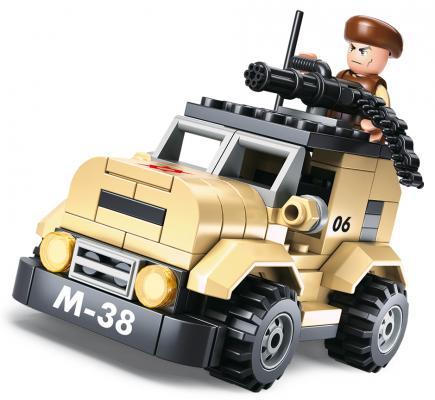 Конструктор SLUBAN Патрульный автомобиль М-38 102 элемента M38-B0587A конструкторы sluban армия патрульный автомобиль 101 деталь