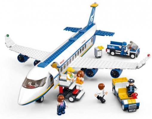 Конструктор SLUBAN Аэробус 463 элемента M38-B0366 b0366 sluban city plane airport cargo terminal model building blocks enlighten diy figure toys for children compatible legoe