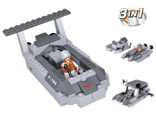 Конструктор SLUBAN 3 в 1 Army 97 элементов M38-B0537D 0587 sluban army series 8 in 1 military tank truck model building blocks enlighten diy figure toys for children compatible legoe