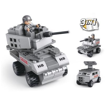 Конструктор SLUBAN 3 в 1 Army 110 элементов M38-B0537B 0587 sluban army series 8 in 1 military tank truck model building blocks enlighten diy figure toys for children compatible legoe