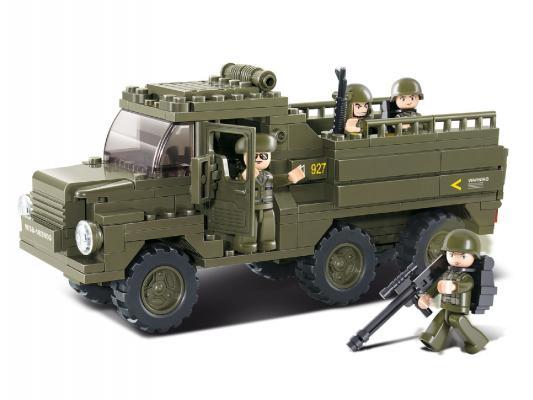 Купить Конструктор SLUBAN Военный грузовик 230 элементов M38-B0301, Пластмассовые конструкторы