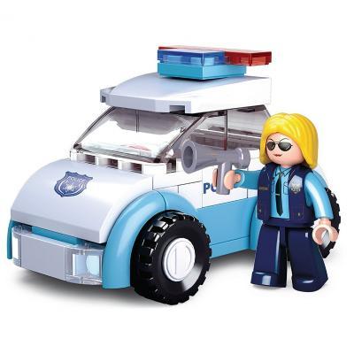 Купить Конструктор SLUBAN Полицейская машина 68 элементов M38-B0600B, Пластмассовые конструкторы