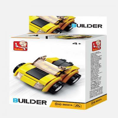 Конструктор SLUBAN Машинка 56 элементов M38-B0597A конструктор sluban трактор малый m38 b0120 70 элементов
