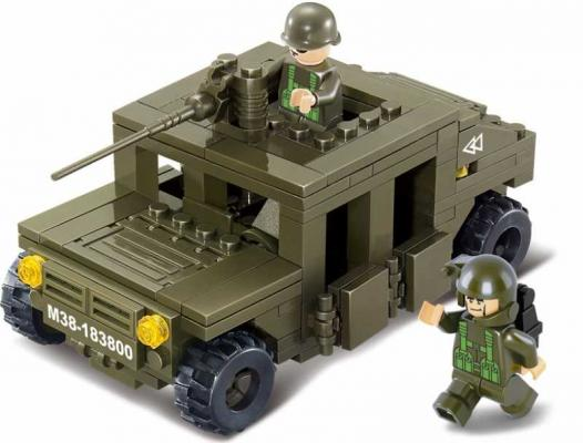 Конструктор SLUBAN Land 2 Forces - Военный автомобиль 175 элементов M38-B0297 sluban m38 b0172 городская серия гоночный автомобиль f1