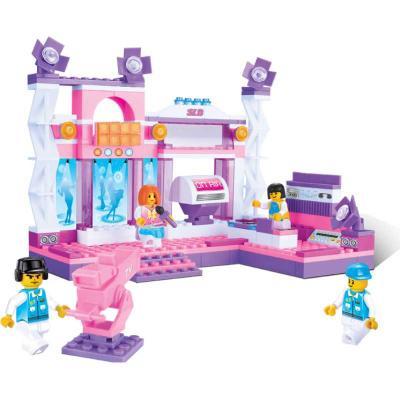 Купить Конструктор SLUBAN Розовая мечта малый набор 176 элементов M38-B0252, Пластмассовые конструкторы