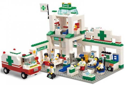 Конструктор SLUBAN Станция скорой помощи 376 элементов M38-B5600 автотрек joy toy станция скорой помощи 3042
