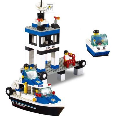 цена Конструктор SLUBAN Морская полиция 206 элементов M38-B1200
