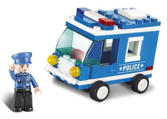 Купить Конструктор SLUBAN Полицейская машина 64 элемента M38-B0177, Пластмассовые конструкторы