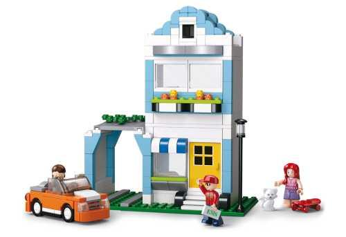 Купить Конструктор SLUBAN Дом с машиной 305 элементов M38-B0572, Пластмассовые конструкторы