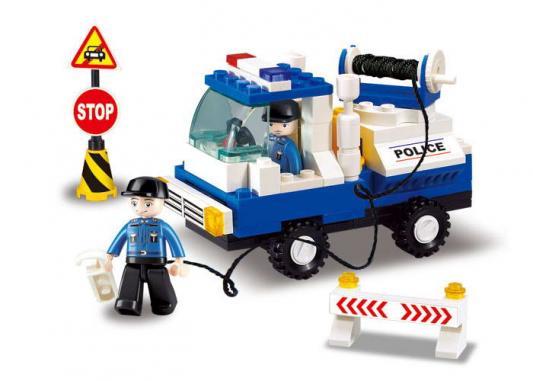 Купить Конструктор SLUBAN Полицейский эвакуатор 94 элемента M38-B900, Пластмассовые конструкторы