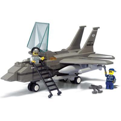 Конструктор SLUBAN Истребитель F-15 142 элемента M38-B7200