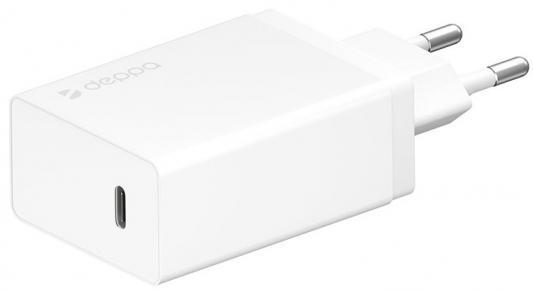 Фото - Сетевое зарядное устройство Deppa Power Delivery 3 А белый 11388 зарядное