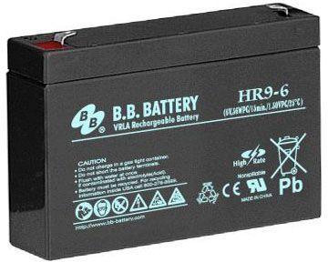 Батарея для ИБП BB HR 9-6 6В 9Ач батарея для ибп bb hrc 1234w 12в 9ач