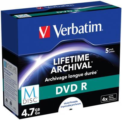 Диск DVD+R Verbatim 4.7Gb 4x Paper box (5шт) (43821)