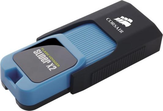 все цены на Флеш Диск Corsair 256Gb Voyager Slider X2 CMFSL3X2-256GB USB3.0 черный/голубой