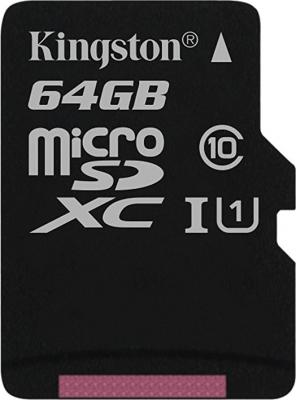 Флеш карта SDXC 64Gb Class10 Kingston SDS/64GB Canvas Select w/o adapter sda10 64gb