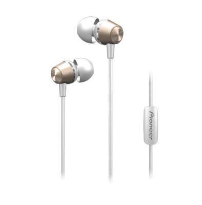Гарнитура вкладыши Pioneer SE-QL2T-G 1.2м золотистый проводные (в ушной раковине) гарнитура sennheiser pmx 686i sports вкладыши серый проводные