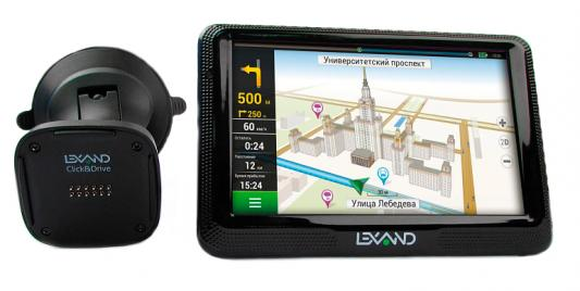 Навигатор Автомобильный GPS Lexand CD5 HD 5 800x480 4Gb microSD FM-Transmitter черный Navitel 9 стран 5 inch wifi android vehicle gps navigation 8g 512mb car dvrs camera recorder truck navigator fm transmitter europe us russia map