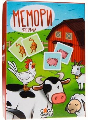 Настольная игра GAGA GAMES GG118 Мемори: Ферма настольная игра это факт страны gaga games
