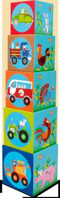 Купить Кубики SCRATCH Giant Stacking Tower Farm от 3 лет 5 шт, Кубики и стенки