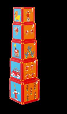 Купить Кубики SCRATCH Stacking Tower Сircus от 3 лет 5 шт, Кубики и стенки