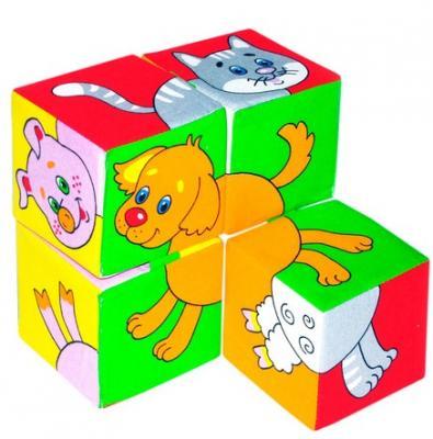 Кубики МЯКИШИ Собери картинку Домашние животные от 1 года 4 шт кубики мякиши животные 2 236