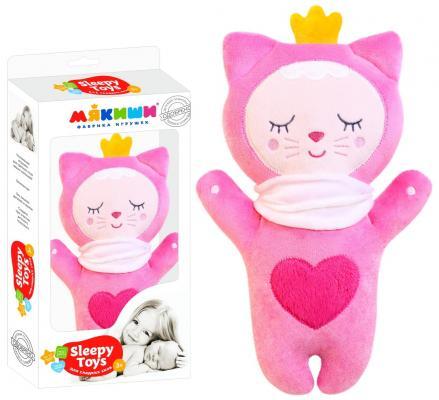 Купить Мягкая игрушка МЯКИШИ 434 Sleepy Toys Котёнок, разноцветный, Животные