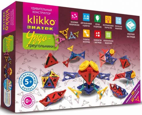 Конструктор Знаток Klikko Чудо треугольники 38640 знаток конструктор klikko чудо треугольники