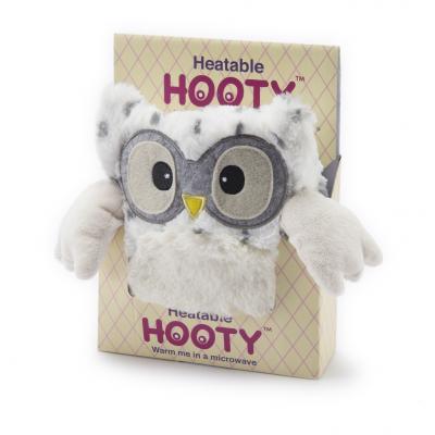 Мягкая игрушка-грелка сова Warmies Совёнок снежный полиэстер цена 2017