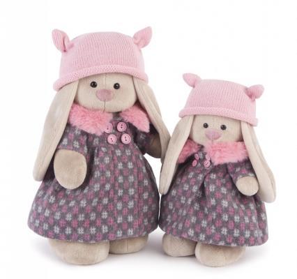 Мягкая игрушка заяц BUDI BASA Зайка Ми в пальто и розовой шапке пластик текстиль искусственный мех бежевый розовый 32 см StM-197