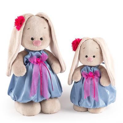 Мягкая игрушка BUDI BASA StS-237 Зайка Ми в синем платье с розовым бантиком (малая)