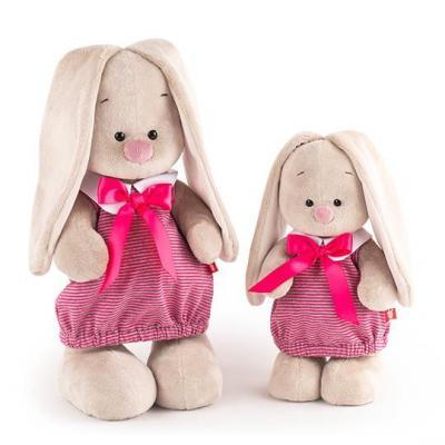 Мягкая игрушка BUDI BASA StS-257 Зайка Ми в платье в розовую полоску (малая) cuski комфортер betty из хлопк серый в розовую полоску 99999