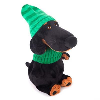 Купить Мягкая игрушка пёс BUDI BASA Ваксон в зеленой шапке и шарфе пластик текстиль искусственный мех черный зеленый 25 см Vaks25-009, зеленый, черный, искусственный мех, пластик, текстиль, Животные