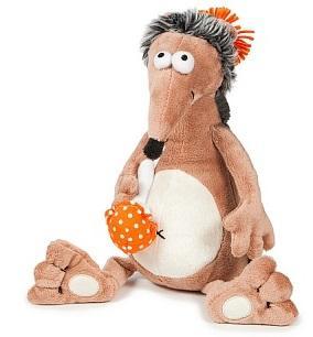 Купить Мягкая игрушка ежик ДуRашки Ёж & Muhomor искусственный мех пластмасса наполнитель 25 см, разноцветный, искусственный мех, пластмасса, наполнитель, Животные