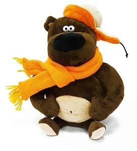 цена на Мягкая игрушка медведь ДуRашки Просто Medved искусственный мех пластмасса наполнитель 25 см