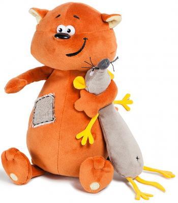 Купить Мягкая игрушка кот ДуRашки Котэ & Mouse искусственный мех 25 см, разноцветный, Животные