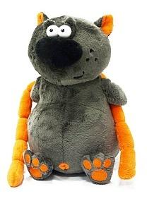 Купить Мягкая игрушка кот ДуRашки Котофей & Sosiska искусственный мех пластмасса наполнитель 24 см, разноцветный, искусственный мех, пластмасса, наполнитель, Животные