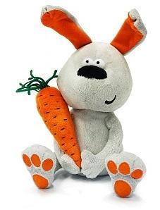 Купить Мягкая игрушка заяц ДуRашки Заяц & Morkovka искусственный мех наполнитель пластмасса 22 см, разноцветный, искусственный мех, пластмасса, наполнитель, Животные