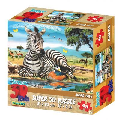 Пазл 3D Prime 3d Зебра 48 элементов 13601 цена