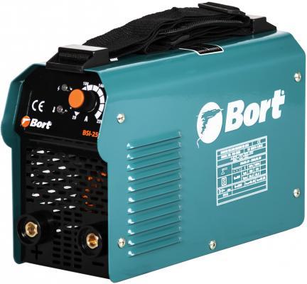 Bort BSI-250H Аппарат сварочный инверторный [91272706] { 10 - 220 A, 7100 Вт, 3.7 кг, 1 фаза, 180 - 250 В, держатель электрода, клемма массы. плечевой ремень } bort bsi 190s инверторный