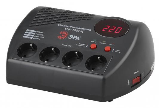 ЭРА Б0031072 СНК-1000-Ц Стабилизатор напр. компакт, ц.д., 160-260В/220В, 1000ВА