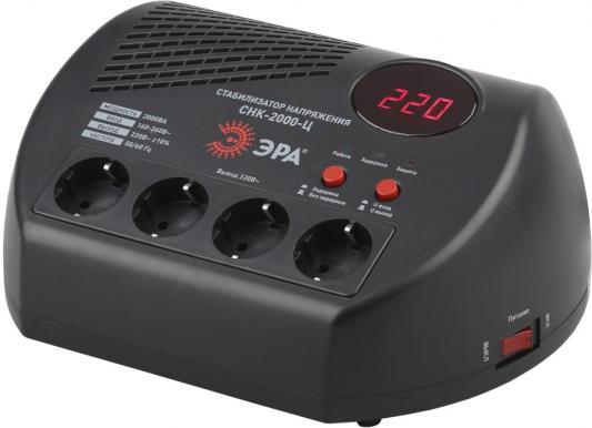 ЭРА Б0031075 СНК-2000-Ц Стабилизатор напр. компакт, ц.д., 160-260В/220В, 2000ВА